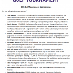 CHS Athletics – Golf Tournament Sponsor Info 2019
