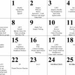 Wrestling Preseason Practice Schedule