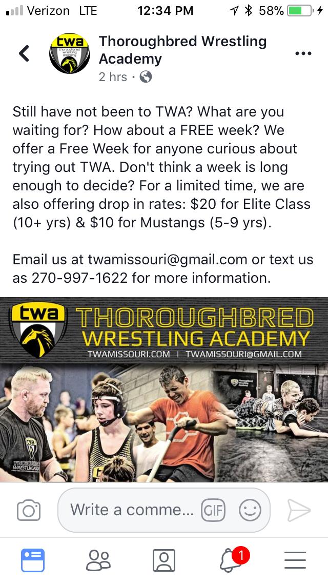Wrestling – TWA – Thoroughbred Wrestling Academy