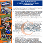 CHS Athletic Participation Policy – 2018