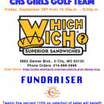 Girls Golf – Which Which Fundraiser – 9/28/18 – TODAY