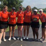 Clayton Greyhound Girls Varsity Golf gets 3rd place at Webster Scramble!