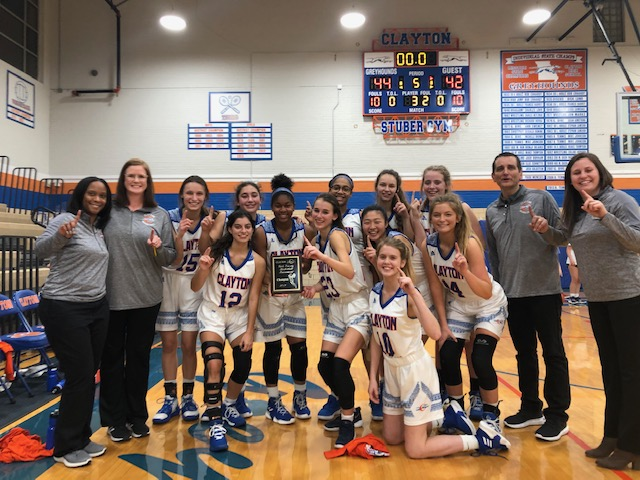 Varsity Girls take 1st Place in the Clayton Round Robin Tournament