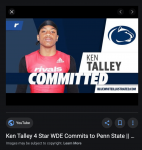 Ken Talley commits to Penn State!