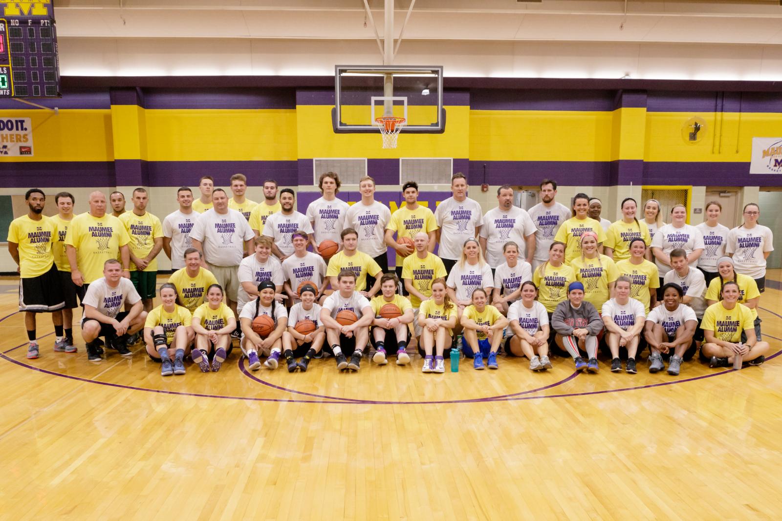 Alumni Basketball Game Opens Winter Season