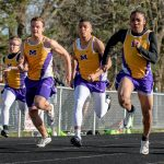 Boys Varsity Track finishes 1st place at Maumee High School