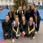 Varsity Gymnastics finishes 2nd place at 1st meet of the season
