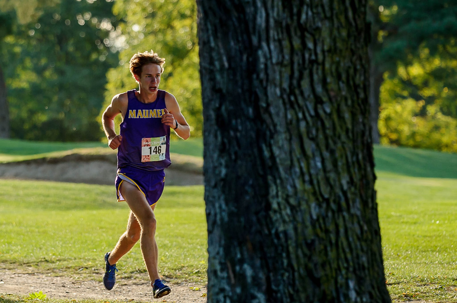 Eric Board places in the top ten at the Dave's Cross Country Invitational
