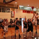 Falcons and Stars on the Hardwood; Varsity Holds Off Shaare, JV Rally Falls Short