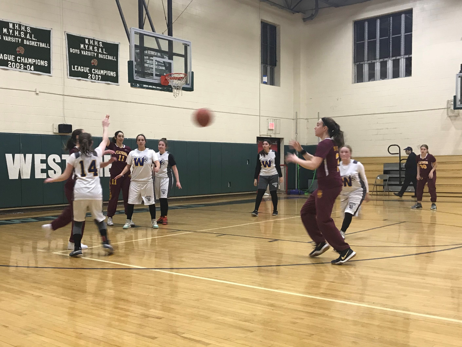 Varsity Hoops Cruises to Big Win in Westchester