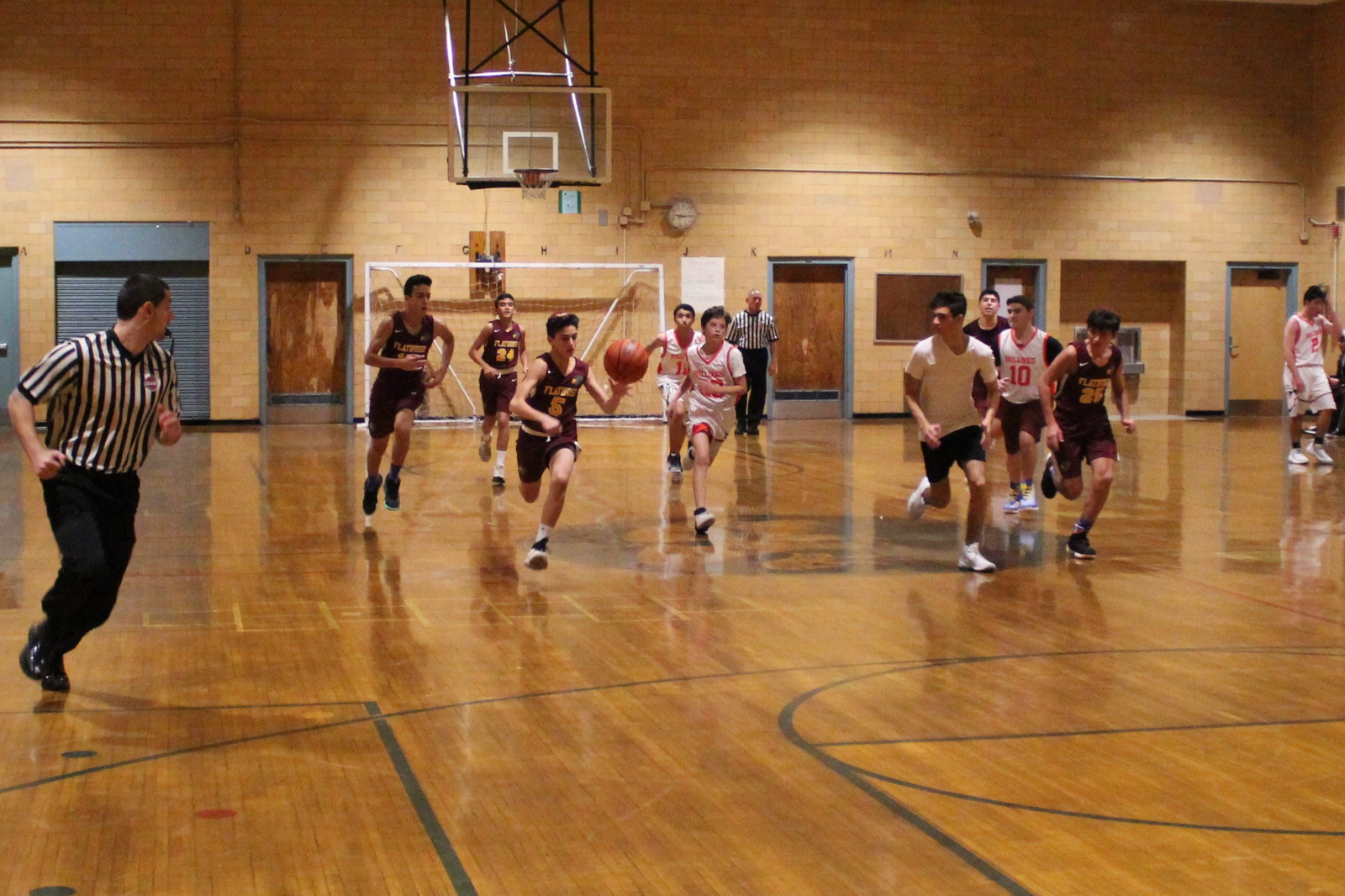 JV Boys Take Care of Business on Nostrand Ave