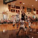Varsity Boys Hoopsters Record Big Win on Senior Night