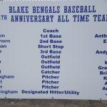 Blake Baseball 20th Anniversary Team