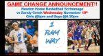 2020-21 Newton Basketball Season Starts with a scrimmage v. Sandy Creek