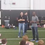 Michael Johnson Talks to Athletes