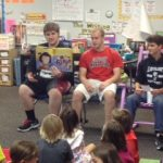 "Wrestlers Kick off ""Reading with Leopards"" at Puster E.S."
