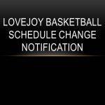 Dec. 22 Basketball at LHS – TIME CHANGE