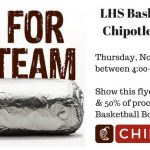Lovejoy Basketball Chipotle Night This Thursday!