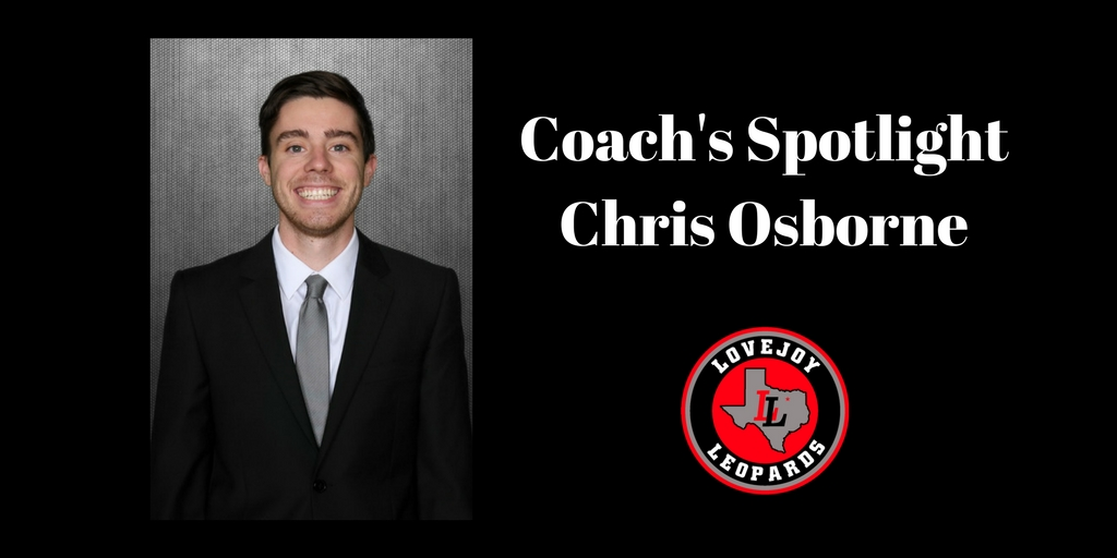 Coach's Spotlight:  Chris Osborne