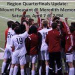 Region Quarterfinal Rescheduled
