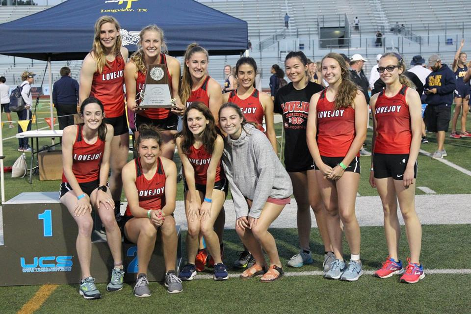 Girls Track and Field Area Meet Runner Up