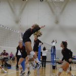 Leopards sweep Aledo Volleyball
