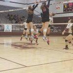 Varsity Volleyball beats Princeton in 3