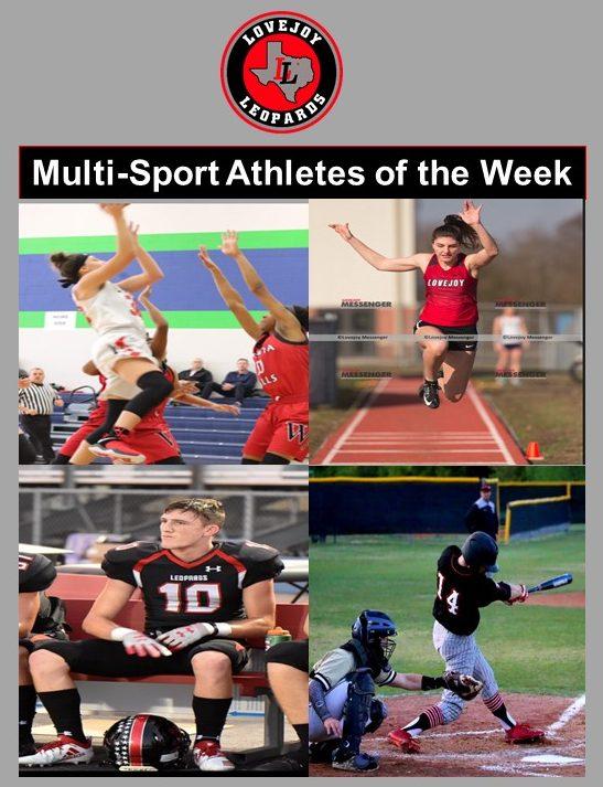 Lovejoy Athletic Department Multi-Sport Athletes of the Week (Dec. 11) – Alexandra Brungardt & Ralph (RW) Rucker