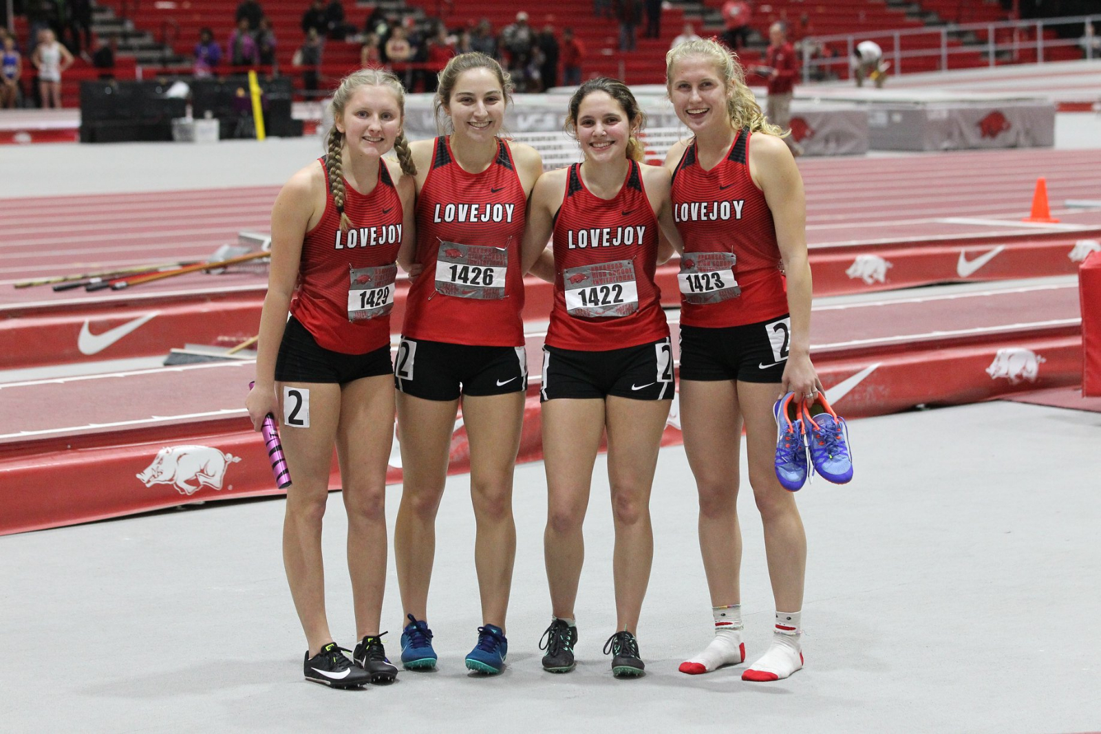 Girls Track & Field Competes at Arkansas Indoor