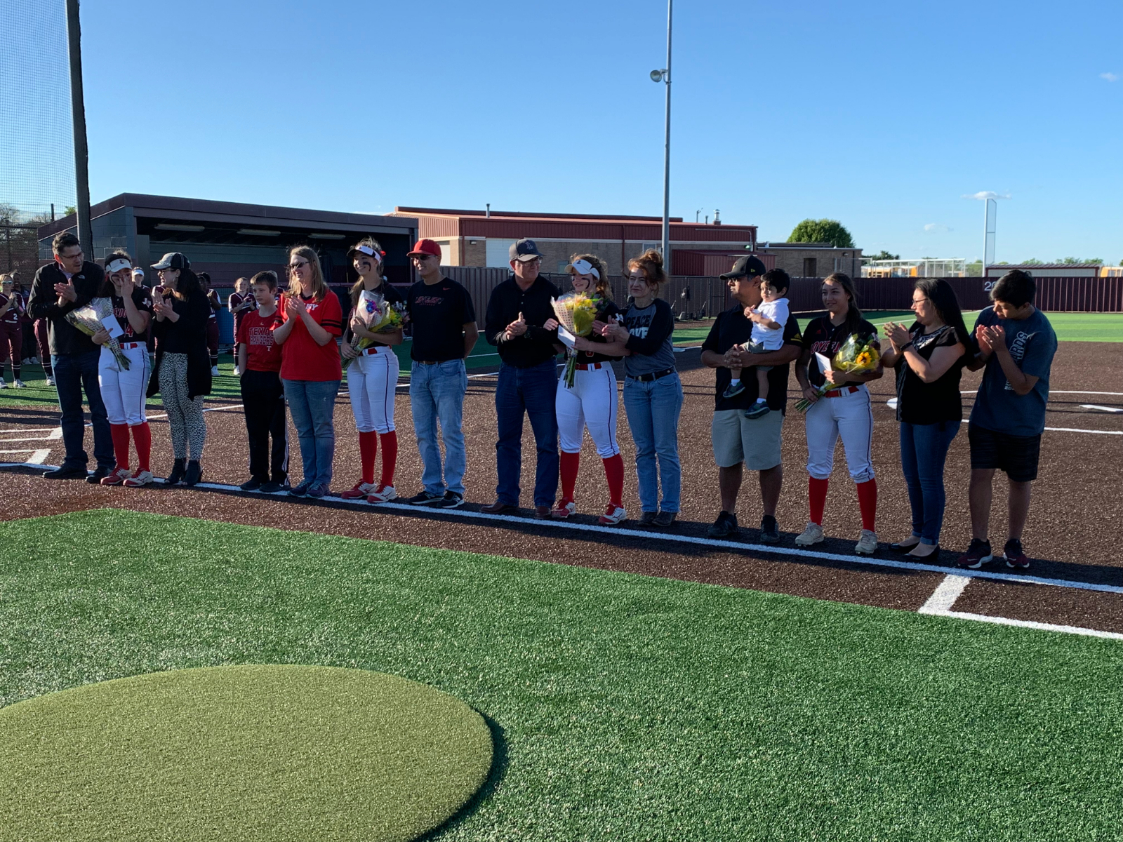 Varsity Softball Tops Off Senior Night With a Win Over Princeton 19-6