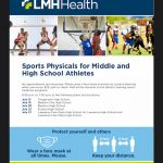July 27th is the LMH Sports Physical Clinic @ FSHS