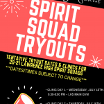20-21 Spirit Squad Tryout Dates Tentatively Set