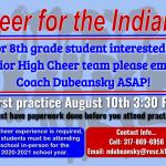 Junior High Cheer Starting 8/17/20