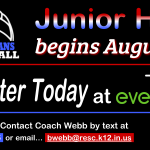 INFO – JH Volleyball begins on 8/17/20