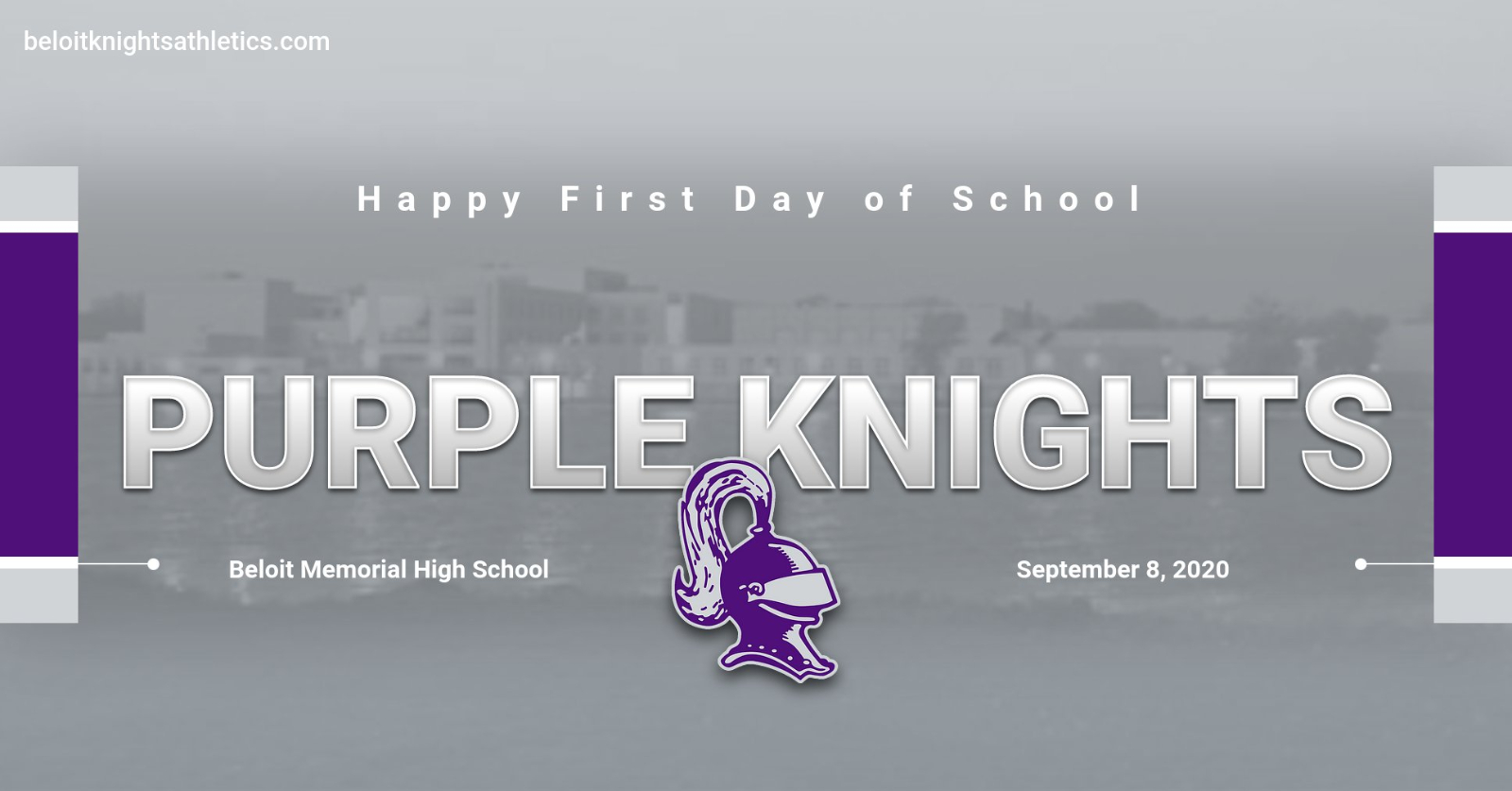 Happy First Day of School Purple Knights!
