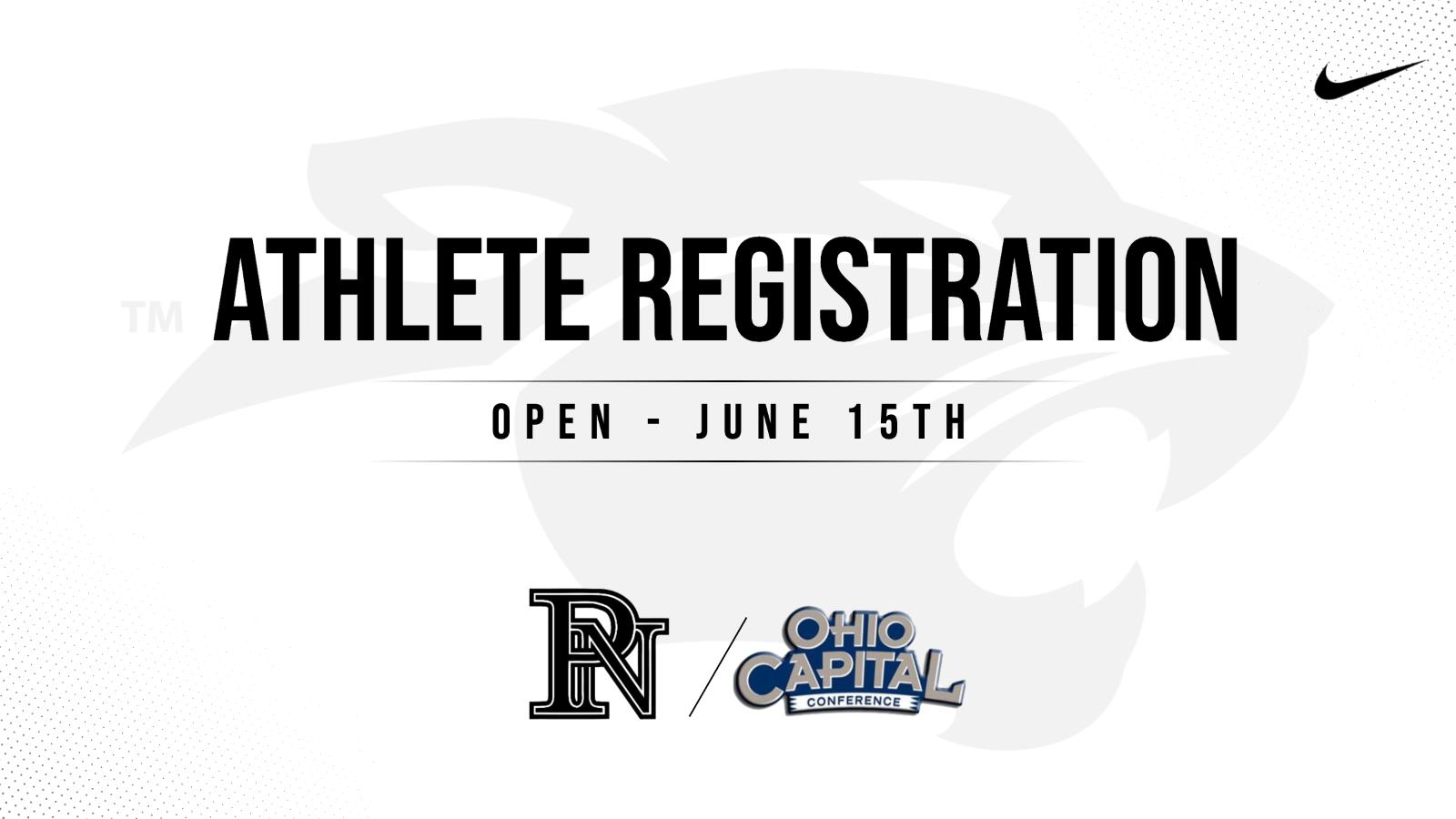 Athlete Registration is Open