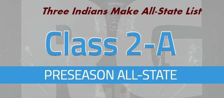 Three Indians Make Preseason All-State