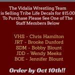 VHS Wrestling Team Fundraiser!!