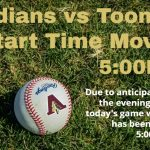 Indians & Bulldogs Start Time Changed!