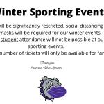 Winter Sports Announcement
