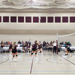 Freshman Volleyball beats Hobart 2 – 1