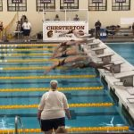 Girls Varsity Swimming beats Merrillville 137 – 30