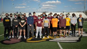Boys Track Senior Night from Mr. Hokanson (masks removed for pic only)