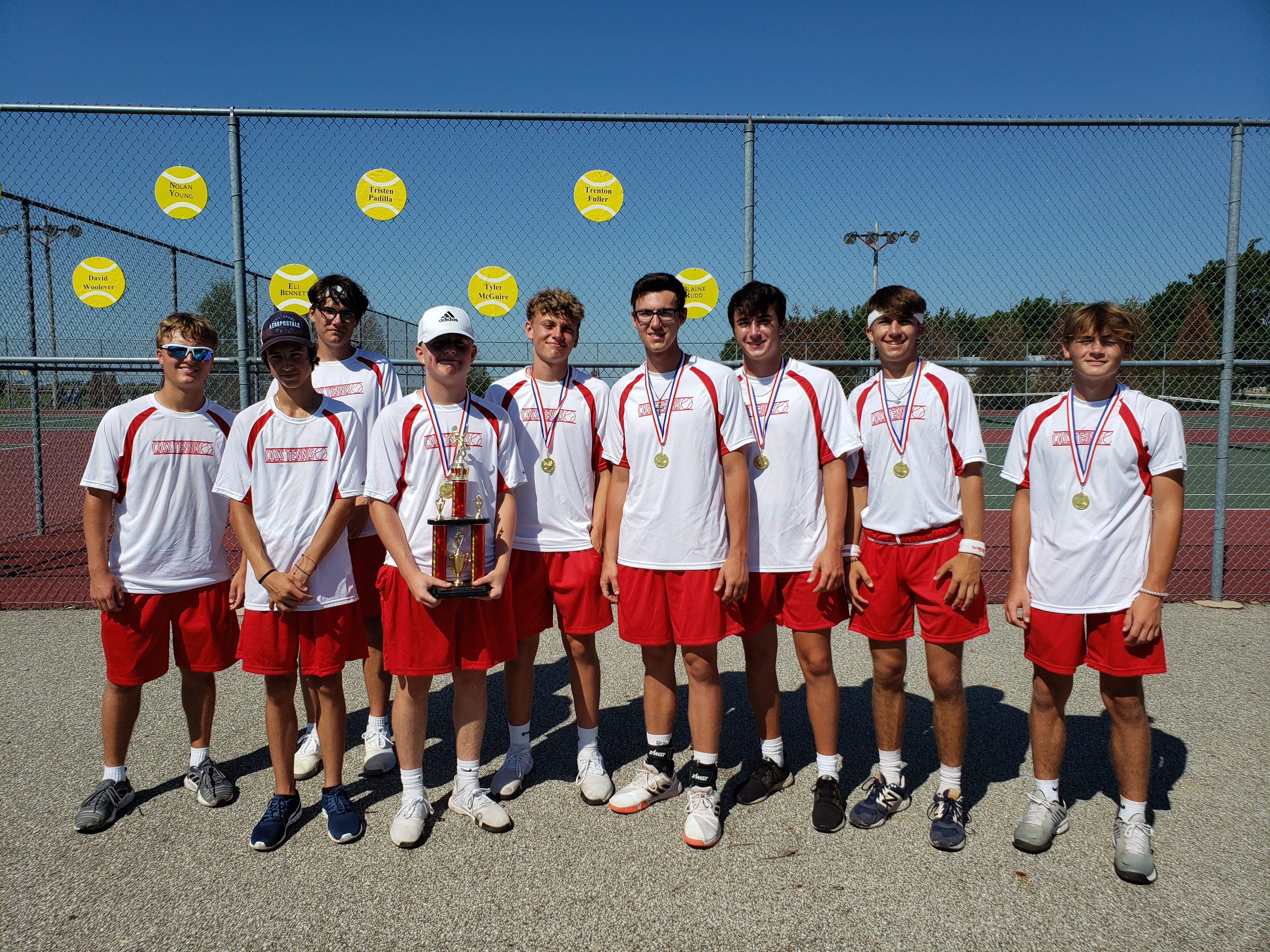 Cass Boys Tennis team takes home the trophy at the Cass Invitational