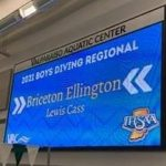 Briceton Ellington finished 11th at Diving Regionals