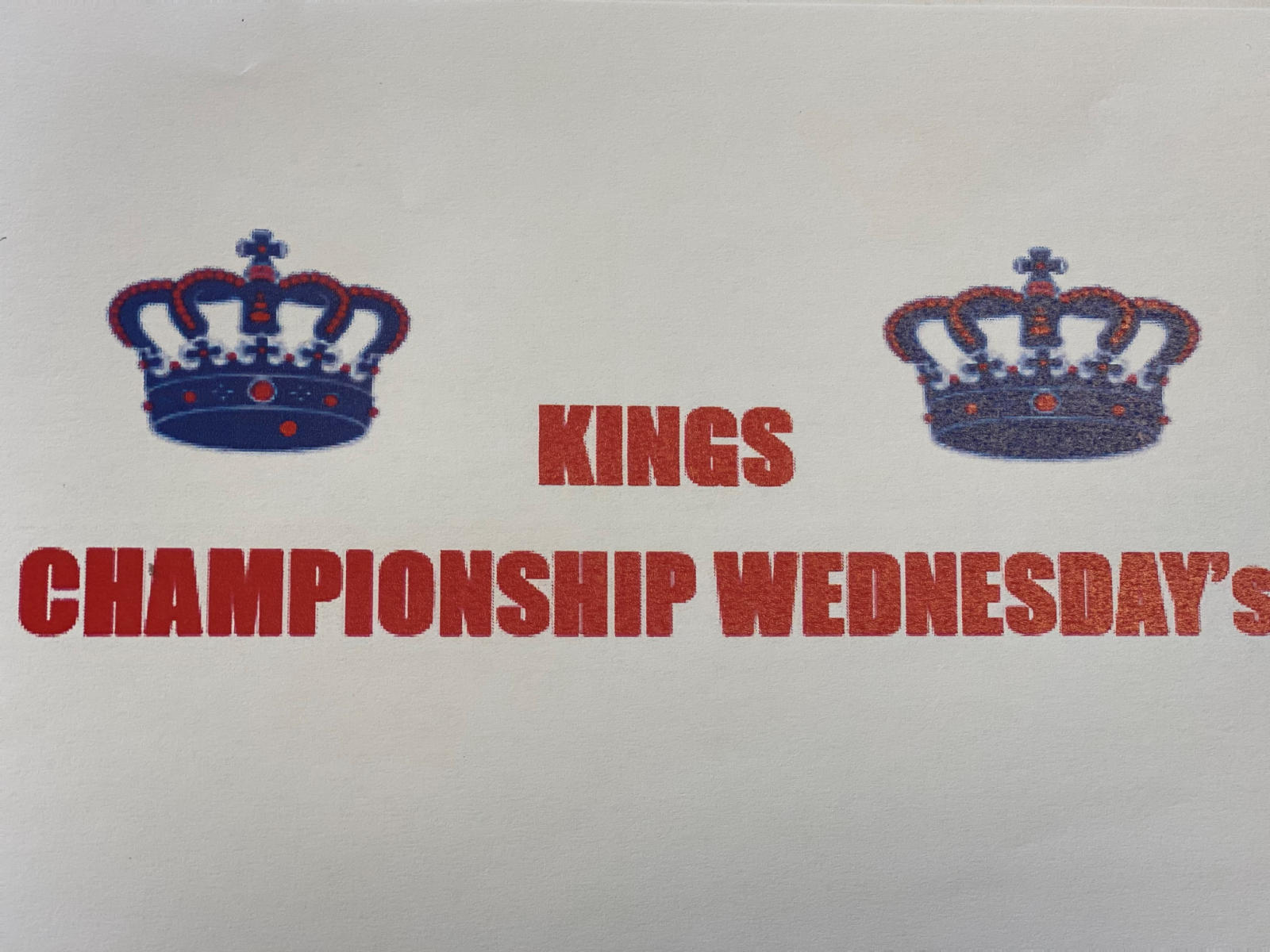 Championship Wednesday moved to Friday this week
