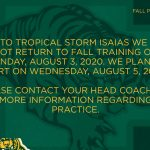 Fall Sport Training Delayed