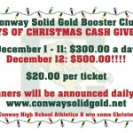 Conway Solid Gold Christmas Cash Fundraiser