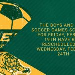 Day 1 of Girls and Boys Soccer Tournament Rescheduled