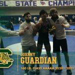 Congratulations Johnny Guardian! State Champion!